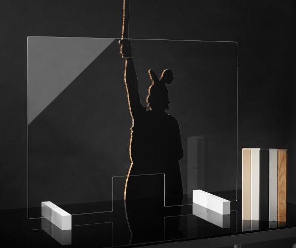 Hygieneschutz Wand aus Acrylglas