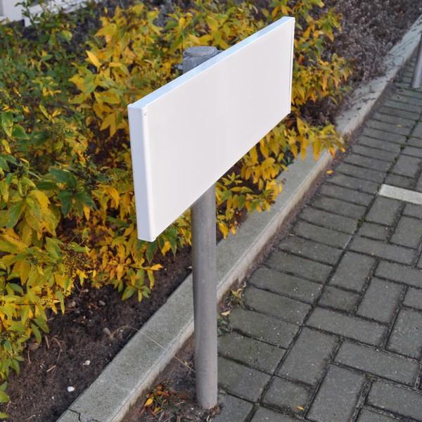 Parkplatzschild 60x20 cm inkl. Befestigungsmaterial und Ständer (150cm)