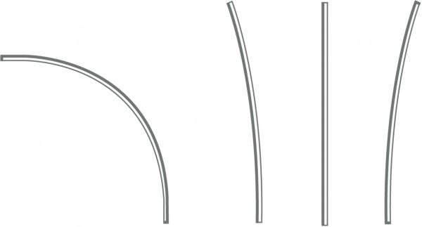Expolinc Fabric System Profil gebogen 15 Grad innen