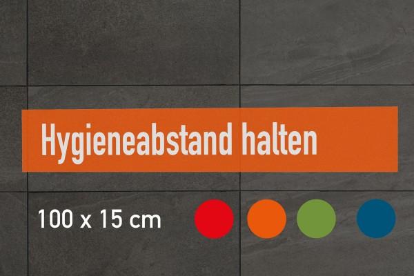 """Fussbodenaufkleber """"Hygieneabstand halten"""" eckig (100x15 cm)"""