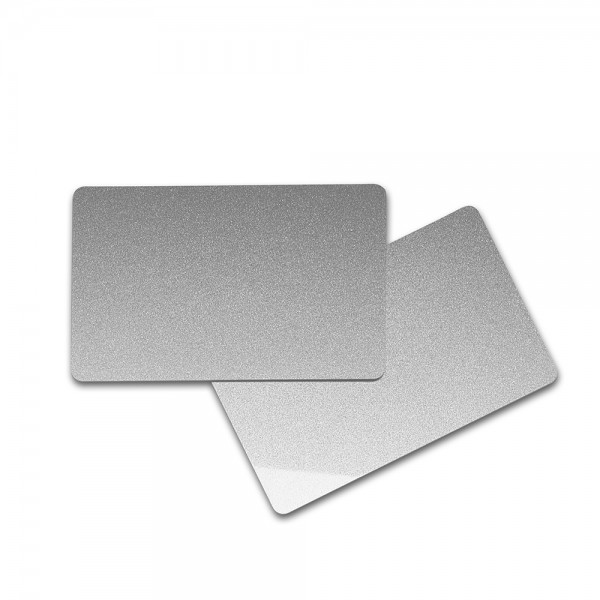 PVC Karte (silber metallic)